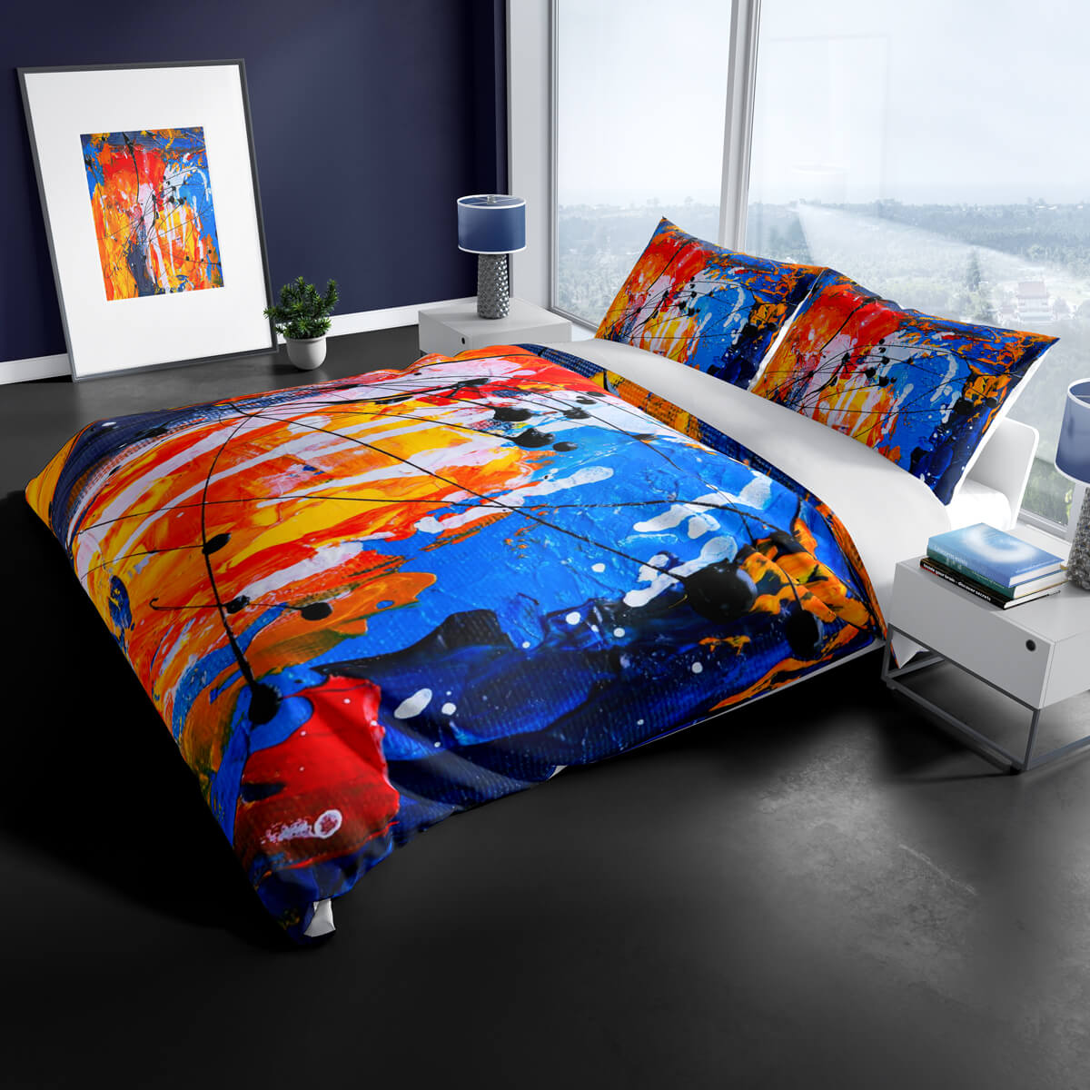 abstract-paint-bedding-set