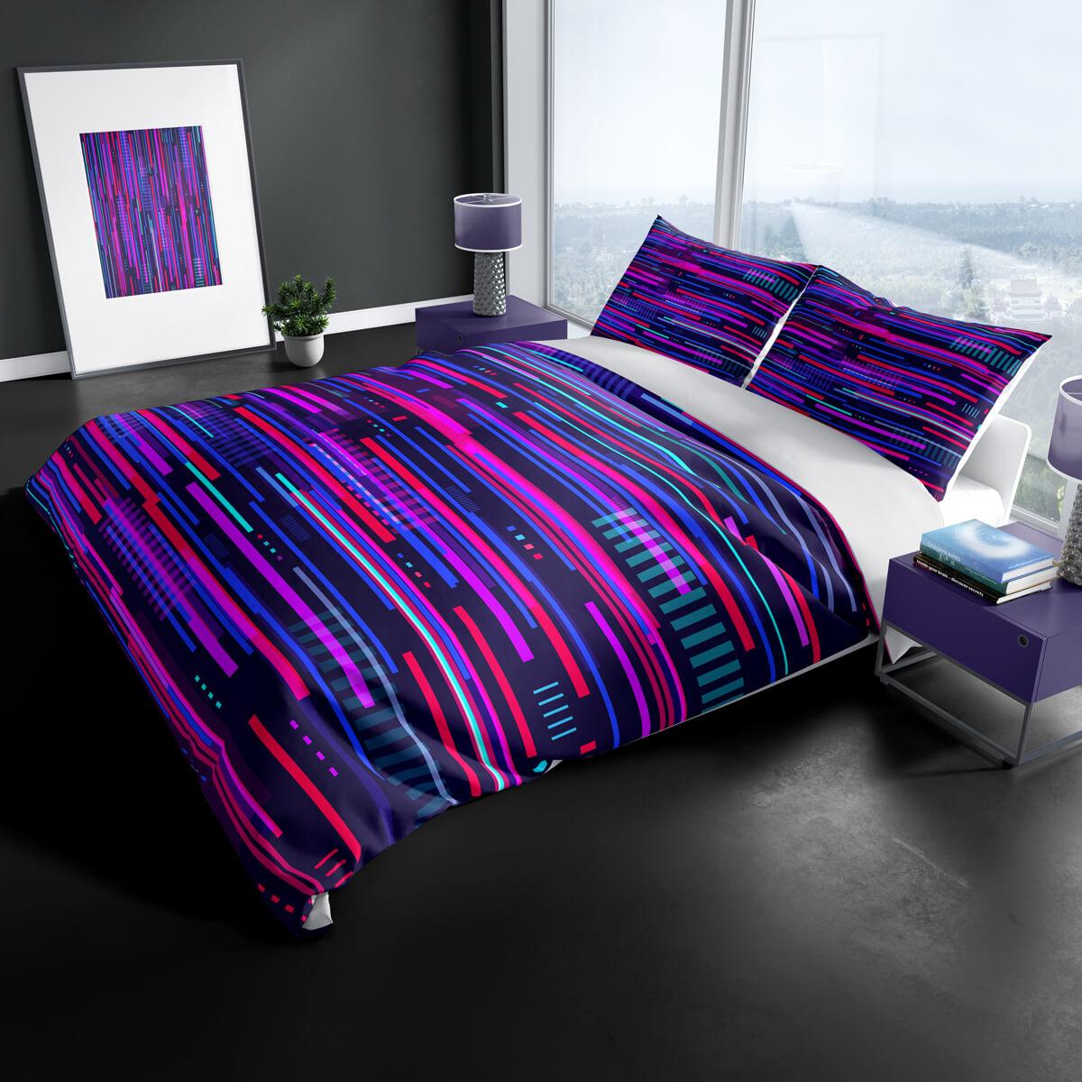 glitch-lines-bedding-set
