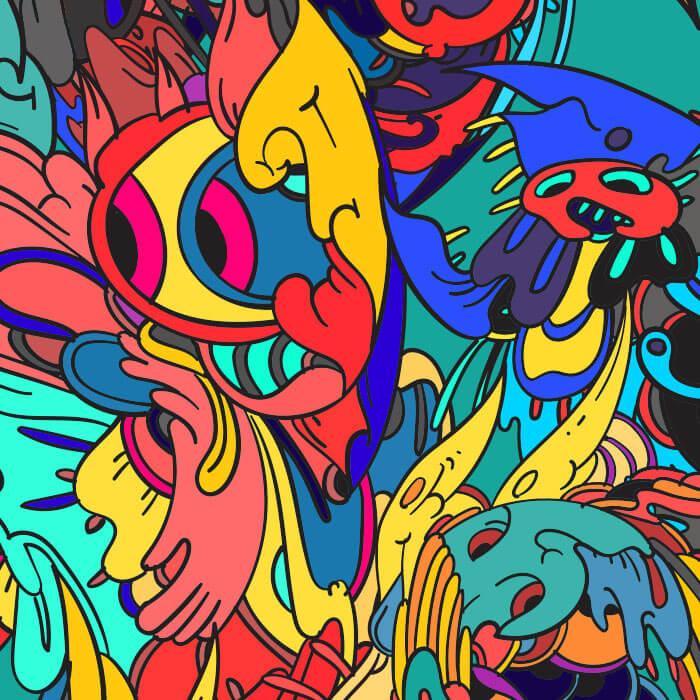 Colorful Swirls Bedding Set